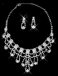 ensemble de bijoux en strass belle exquise dames (45 cm)