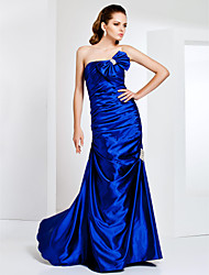 Sheath/Column Strapless Floor-length Stretch Satin Evening/Prom Dress
