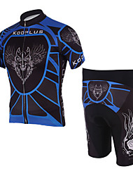 100% Polyester and Quick Dry Mens Cycling Short Suits (Blue Wolf)