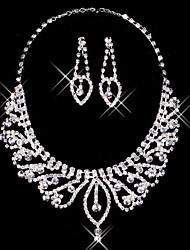"""multa de prata strass duas senhoras peça """"projeto conjunto de jóias de casamento (45 cm)"""