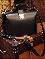 Retro Box Design Lock Closure Cross-body Bag(29cm*17cm*20cm)