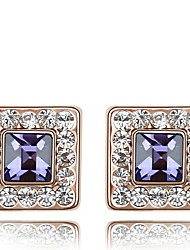 lureme®fashion quadratische Kristallohrnägel