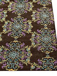 lã área tapete adornado com motivos florais 4 '* 6'