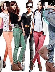 Snowflake Print Skinny Jeans