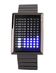 72 luzes tocar tela do relógio caixa quadrada