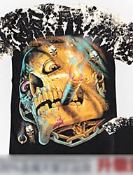 crânio fumar projeto rocha t-shirt