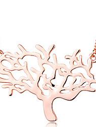 colar de ouro de design árvore