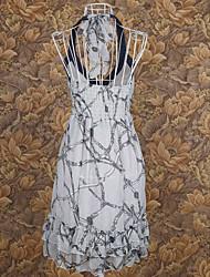 Chiffon Neckholder Mini Sommerkleid