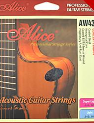 Alice - (aw433-l) de aço cordas da guitarra acústica (012-053)