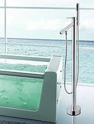 Grifo de bañera - Contemporáneo - Alcachofa incluida / De pie - Latón (Cromo)