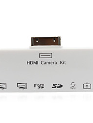 HDMI + AV + SD / TF Kartenleser Camera Connection Kit USB Card Reader für iPad 2 neue iPad (weiß)
