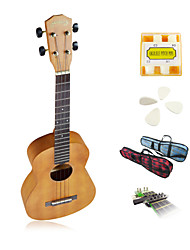 yadars - ukulele tenor mogno com tubo show saco / pitch / picaretas / capo