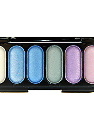 6 Colors Colorful Shimmer Eye Shadow