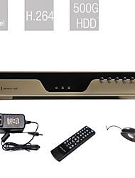начального уровня 8-канальный DVR (500 жесткого диска, сжатия H.264, сетевые)