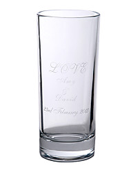 "Personalized ""LOVE"" Glass Wedding Favor"