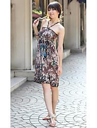 columnpolyester Halfter Mini Sommerkleid