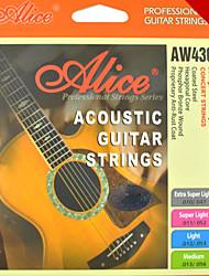 Alice - (aw436) cordas de aço da guitarra acústica (010-047)