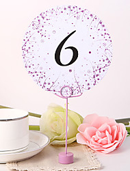 Round Table Number Card - Spring Garden