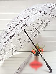 jornal impresso guarda-chuva de cabo comprido