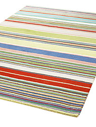laine tuftés tapis avec motif de rayure 4 '* 6'
