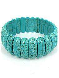 Bracelet volet en forme de croissant turquoise dames élastiques des