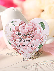 Personalized Heart Shaped Favor Tag - Rose (Set of 60)