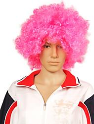 rosa peluca afro