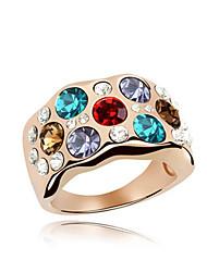 Áustria anel de cristal na liga - orvalho da manhã (mais cores)