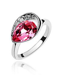 Австрия кристалл кольцо с платиновым напылением сплава - сладкие росы (больше цветов)