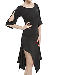 Latein-Tanz Austattungen Damen Training Polyester Halbe Sleeve Normal