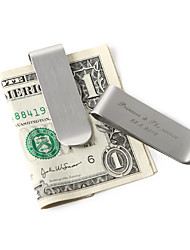 Gift Groomsman Personalized Plain Money Clip