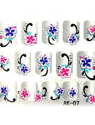 3D Embossed Flowers Nail Sticker(3 pcs)
