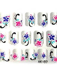 3d тиснением ногтей цветы наклейка (3 шт)