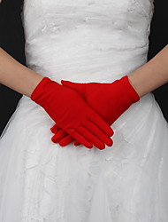 Wrist Length Fingertips Glove Silk Bridal Gloves Spring / Summer / Fall