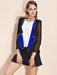 TS Contrast Colors Chain Decorated Blazer (More Colors)