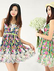 Flower Printed Basic Dress