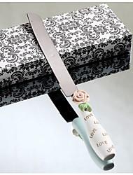 ensembles de service couteau de gâteau de mariage élégantes augmenté conception résine couteau à gâteau de la poignée