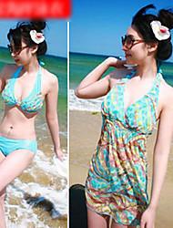 tres piezas del bikini al estilo de natación