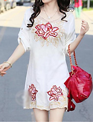Bohemian Flower Embroidered Dress