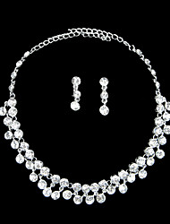 Magic/ Rhinestone Ladies' Jewelry Set Including Necklace and Earrings