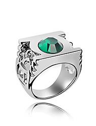 Австрия кристалл кольцо с платиновым напылением сплава - фонарь (больше цветов)