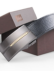 Men's Double-sided Genuine Leather Smooth Buckle Belt