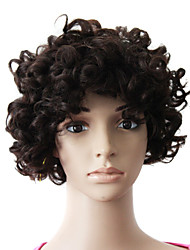Capless 100% Human Hair Natural Black Short Lovely Curly Wig