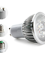 4W E14 / GU10 / E26/E27 LED Spotlight MR16 3 High Power LED 270 lm Warm White AC 85-265 V