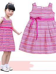 Girls Rainbow Stripe Cotton Vest Dress