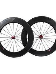 farsport - 88 mm de fibra de carbono tubulares de juegos de ruedas de bicicleta de carretera con la Serie M