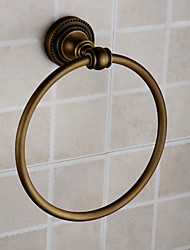 Antique Brass Finish Wall-mounted Towel Ring