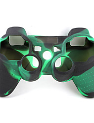 Protective Dual-Color Style Silicone Case for PS3 Controller (Army Green and Black)