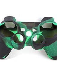 protetora de dupla capa de silicone cor estilo para ps3 controlador (exército verde e preto)