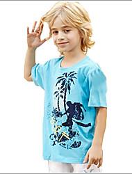 кокосовая пальма картина мальчиков хлопок короткий рукав футболки
